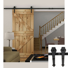 10FT 12FT 13FT 15FT 16FT retro decor interior wooden single door sliding barn door hardware arrow style design kit 1500mm-2500mm