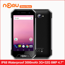 NOMU S30 mini IP68 Waterproof 4G LTE Smartphone MTK6737T Quad-core Android 7.0 4.7inch 3GB+32GB 8.0MP+2.0MP 3000mAh Mobile Phone(China)