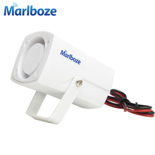 White 120DB DC12V Mini Wired Siren Horn for Wireless Home Alarm Security System Alarm Accessories 59cm Line length(China)