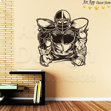 Good quality house decor new Art Design rugby sports Vinyl Wall decals removable room decoration American football cheap sticker(China)