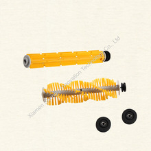 Original  A325 Robot Vacuum Cleaner parts ,Rubber brush 1 pc and Hair brush 1 pc with Rubber Sleeve (included Bearing)