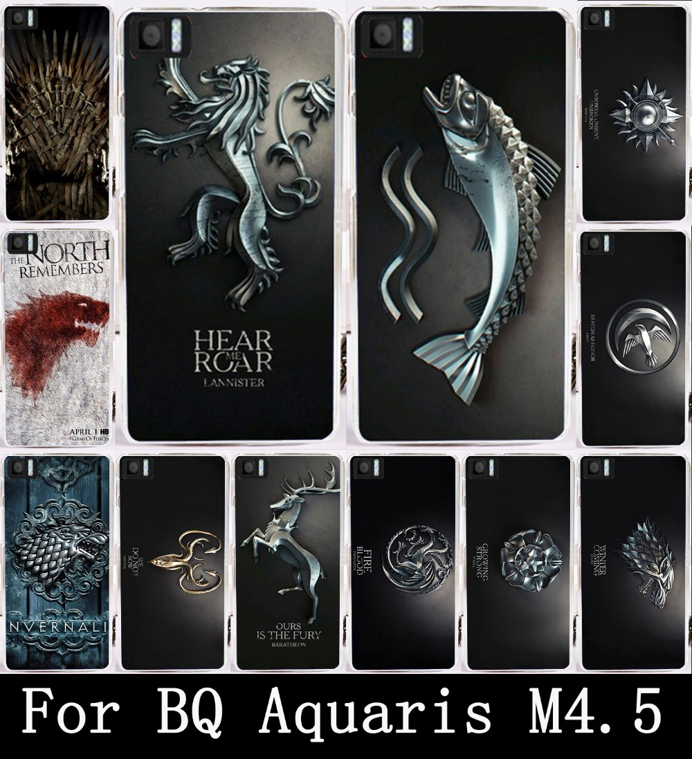 Painting Phone Cover Case For BQ M4.5 Transparent Side Skin Hot Magic TV Game Family Flag Hard PC Case For BQ Aquaris M4.5 Bags(China (Mainland))