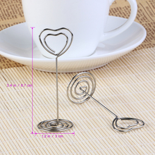 10pcs Place Card Holder Heart Shape Clips Place Card Holder/Photo Holder Wedding Table Decoration Favors