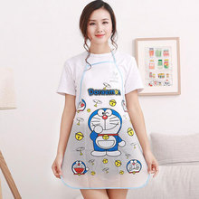 1pc Waterproof PE Kawaii Doraemon Adult Ladies Kitchen Cooking Aprons Cartoon Novelty(China)