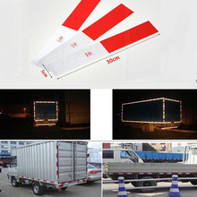 5x30cm red white Reflective Tape Sticker Safe Warning sign Car construction road symbol Crash Guard etc