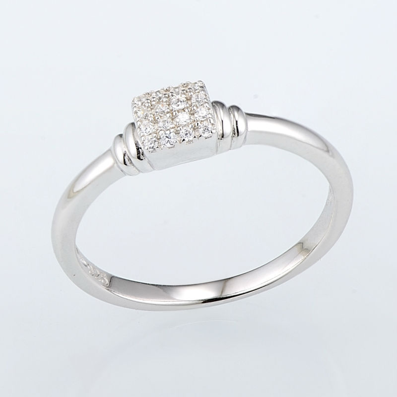 R307091WCZSL925-Silver Ring-