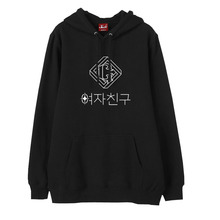 Kpop gfriend parallel album logo/all member name printing fleece sweatshirt for autumn winter fans pullover hoodies