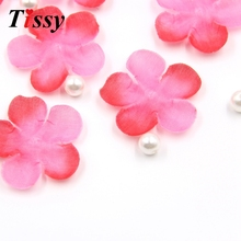 500PCS Romatic Red&Pink Flower Petals Silk Artificial Cherry Blossom Petals Home&Wedding Party Decoration Fake Rose Petals(China)
