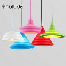 Novelty Colorful Silica Gel Pendant lights Bar Restaurant Bedrooms Large Shopping mall  E27 Art Pendant Lamps
