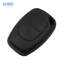 Dandkey 2 Button Remote Uncut Blade Car Key Case for Renault Replacement Flip Fob Car Key Shell Key Cover NO Chip(China)
