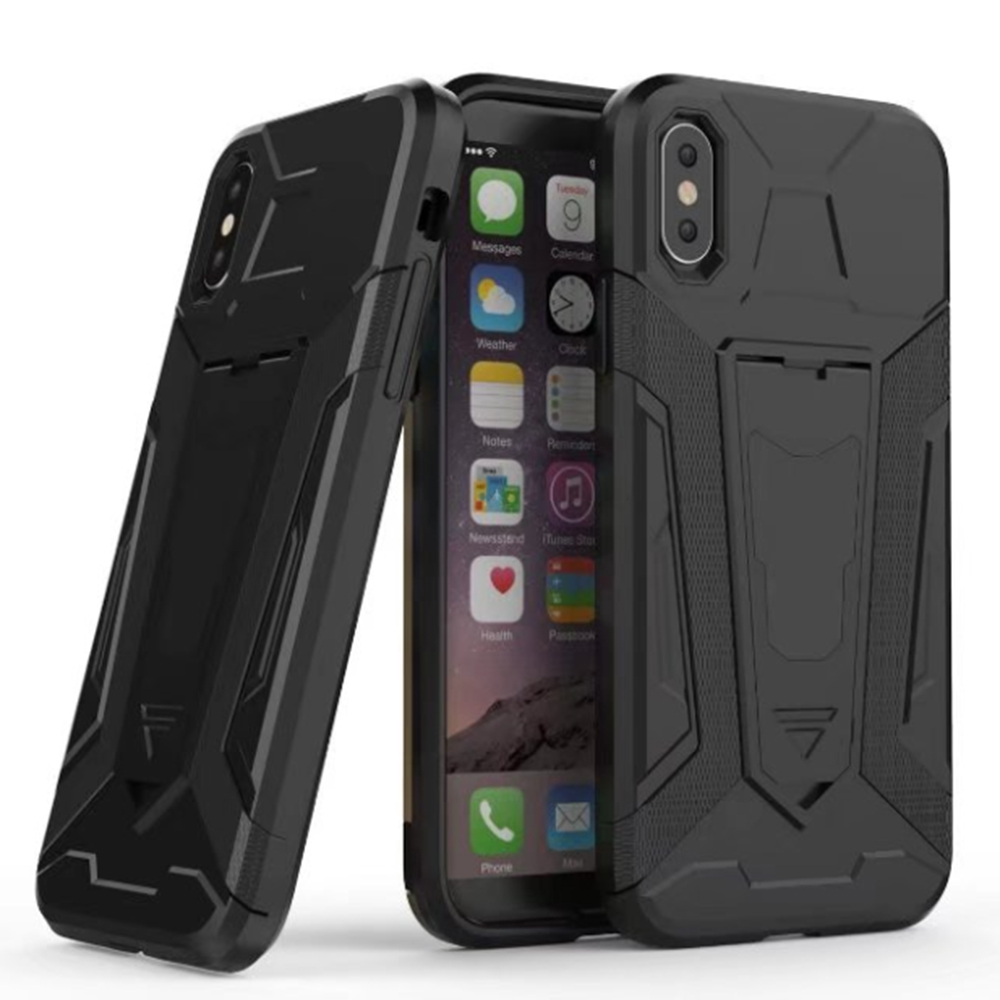Armor Stand Anti-Slip Impact Resistant Protective Case Cover For Apple Iphone X TPU+PC 2in1 Mobile Phone Cases(China)