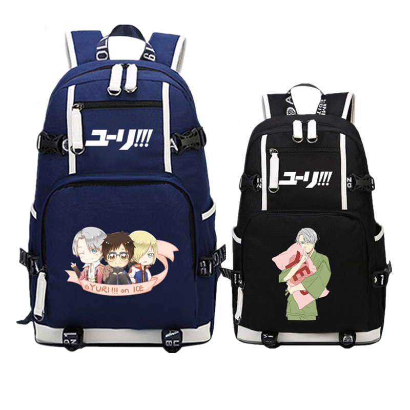 Hot Anime YURI on ICE Victor COS Color Printing Backpack Mochila Women School Bagpack Laptop Canvas Backpacks for Teenage Girls<br>