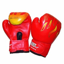 New 1Pair Children Boxing Gloves MMA Karate UFC Guantes De boxeo Kick Boxing Luva De Boxe Boxing Equipment Jumelle Boy 3-12Years(China)