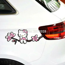 10 x Newest Design Hello Kitty Lovely Creative Auto Decal Set Cartoon Car Sticker Car Bumper Body Decal Creative Pattern Vinyl