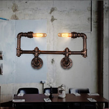 Hot sale American Vintage Aisle Industrial Water Pipe Wall Lamp Lights Water Pipe Bookshelf Wall Light Lamp