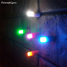 Feimefeiyou 5 Colors Push Sucker One Touch Colorful Light Mini Sucker LED Night Lamp Toys Romantic Bar For Home Party Decoration