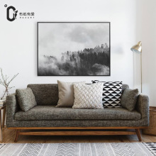 Forest Modern style Nordic black and white flower canvas painting poster for living room Giclee Print No Frame