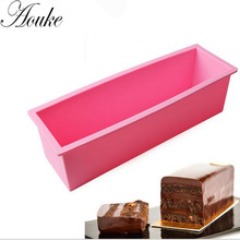 Aouke 1.2L Silicone Soap Mold 3D Rectangular Fondant Cake Bread Loaf Chocolate Mold Christmas Baking Tools K118