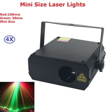 4XLot Mini Size Laser Light RG Two Color Beam Stage Lighting Party KTV Disco DJ Lights 150MW Professional Stage Laser Equipments