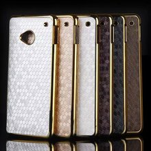 For HTC One M7 Case Luxury Gold Plated Frame Bumper Football Skin Hard Plastic Cover Coque For HTC One M7 Phone Protective Shell