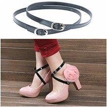 2 пары Для женщин Съемный ПУ кожаная обувь Бретели для нижнего белья высокий каблук анти-свободные шнурки Замена Интимные аксессуары(China)