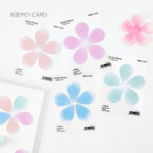 50Pcs/Pack Cute Flower Plum Floral Notes Post it N Times Sticky Memo Pad Stationery Office Supplies M0415
