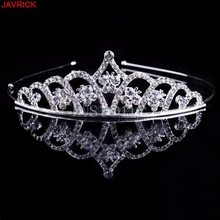 Rhinestone Princess Crown Fashion Bridal Crystal Tiara Wedding Hair Accessories Tiara coroa tiara de noiva de princesa couronne(China)
