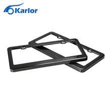 Real Carbon fiber USA Canada License Plate Frame Tag Cover Holder for Auto Car Truck Vehicle Automobiles Car styling Accessories