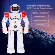 MUQGEW Brand Toys HT9930-1 Intelligent Programming Remote Control Robot Gesture Sensing LED Dancing Robot RC Toy For Kid Christm(China)