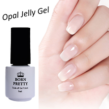 BORN PRETTY 5ml or 10ml Optional  Opal Jelly Gel White Soak Off Manicure Nail Art UV Gel Polish Varnish