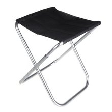 FAAJ Good Deal Portable Folding Aluminum Oxford Cloth Chair Outdoor Patio Fishing Camping with Carry Bag Black