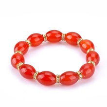 Fashion Charm Chinese wind bracelet women oval crystal beads multi colored Jewelry Bracelet Yoga Jewelry Part Gift B1133(China)