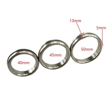 Buy Dia 40/45/50mm choose Metal chastity device Stainless Steel Penis thick Cock Ring Male Delay Ejaculation Sex Toy product