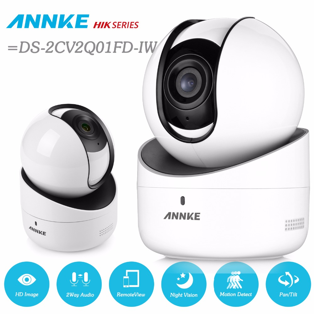ANNKE 720P Wireless PT IP Camera Network WiFi Security baby Monitor IR Night Motion Detected Alert WDR ROI 3D =DS-2CV2Q01FD-IW