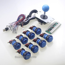 New Arcade DIY Kits Accessorie USB Encoder PC To Joystick + Arcade Stick + 8 x Arcade LED Buttons To Arcade Sticks USB Connector