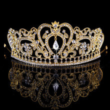 New Gold Silver Pink Bridal Tiaras Crowns Crystal Rhinestone Pageant Prom Bridal Wedding Hair Accessories Headband Wedding Tiara