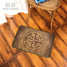 CIGI New Fashion Vintage Lucky Compass Floor Mat Anti-slip Door Mat Welcome Carpet Easy washing Mat For Bedroom Bathroom Kitchen