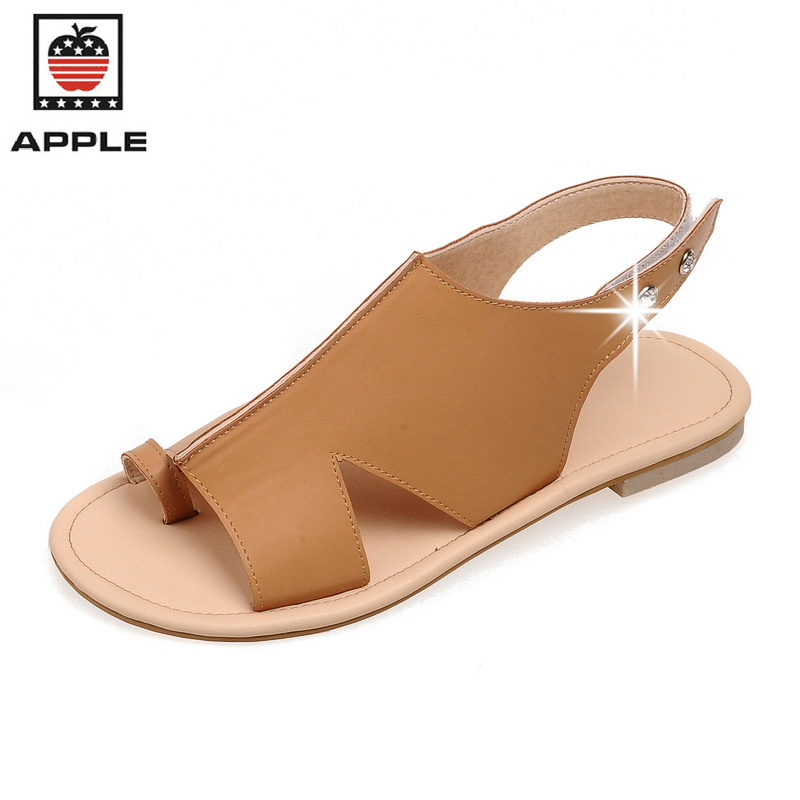 APPLE new summer women sandals flat with female slippers chaussure femme  womens casual shoes big size 35-43<br><br>Aliexpress