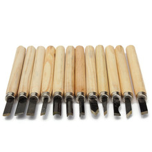 Hot 12pcs/Set Wood Carving Chisels Knife For Basic Wood Cut DIY Tools and Detailed Woodworking Hand Tools Best Price