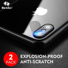 2pcs For iPhone X Benks Transparent Camera Lens Back Screen Protector Tempered Glass Film For iPhoneX Phone Lens Toughened(China)