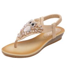 Sandals Spring Summer 2017 Large Size Ladies Wedges Diamond Flip Flops Discount Shoes Online China
