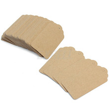 50pcs/lot 3*5cm Vintage DIY Blank Kraft Paper Gift Tags Wedding Favors For Gift Card Scrapbooks Signs