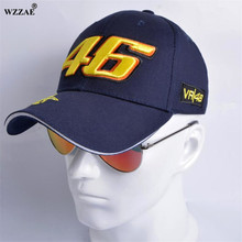 WZZAE 2017 New Snapback Caps Wholesale Rossi 46 Embroidery Baseball Cap Hat Motorcycle Racing Cap VR46 Brand Baseball Caps Men