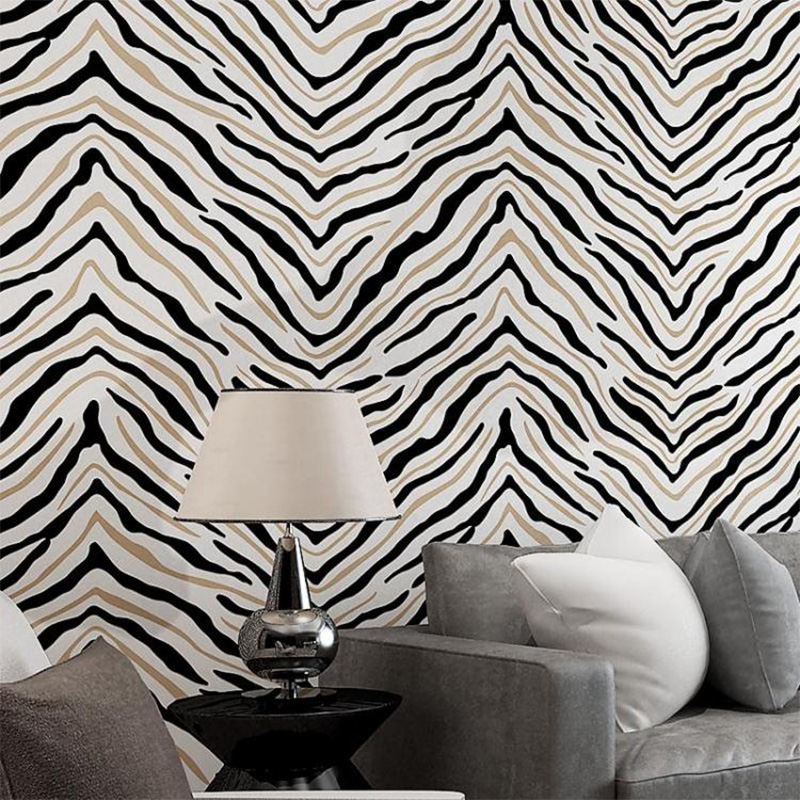 3D Zebra Colored Abstract  Wallpaper Designer<br>