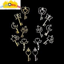 Buy 7pcs Silver Moon Star Magic Wand DIY UV Resin Open Bezel Pendant Setting Craft Hollow Heart Key Charms Jewelry Accessories for $2.96 in AliExpress store