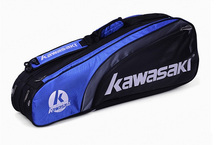 Sport Accessory 3 Colors Black Blue Red Large Capacity Portable Unisex Gym Squash Tennis Badminton Hold 6 Racquets Racket Bag(China)