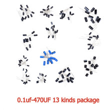 Buy 130pcs electrolytic capacitor package 13 kinds X 10PCS 0.1uf-470UFDIP capacitor diy kit arduino for $2.20 in AliExpress store