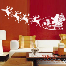 Large Christmas X mas buck father Wall Window Glass Sticker Decal Home Decor Decoration Covering xmas014