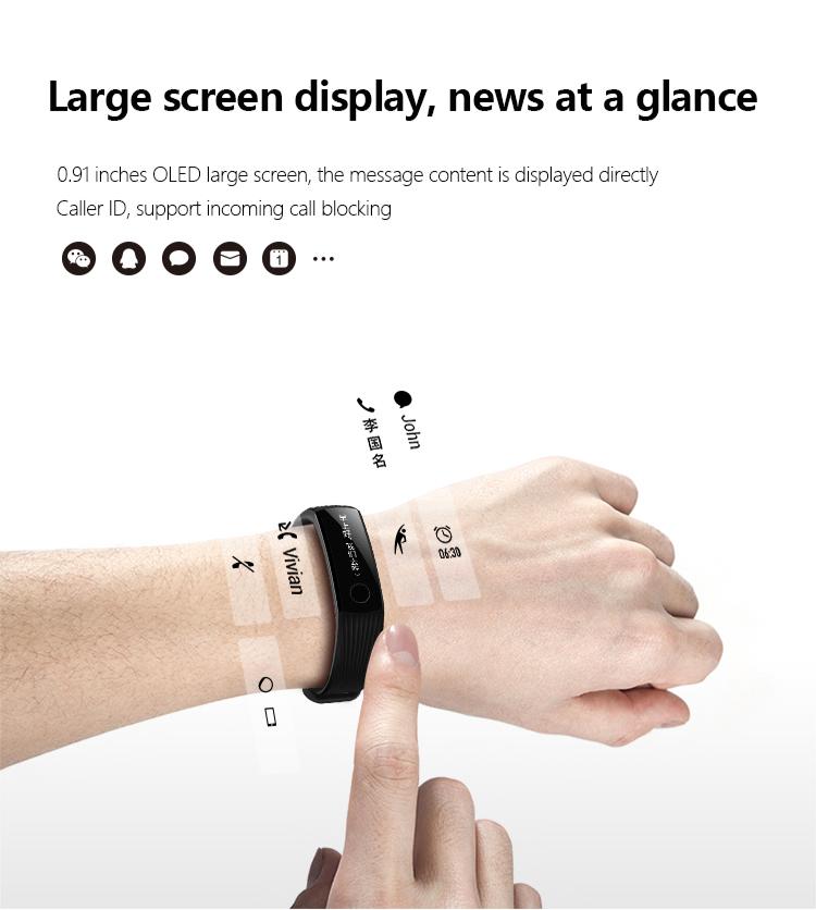 New original huawei glory Bracelet 3 Smart Bluetooth motion,heart rate,sleep monitoring,waterproof Wrist Watch For xiaomi 2 14
