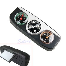 3 in1 Guide Ball Car Boat Vehicles Auto Navigation Compass Thermometer Hygrometer